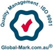 ISO accreditation - Quality Management ISO 9001 Global-Mark.com.au logo