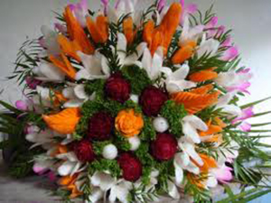 Flowers crafted by Yoga Raja.