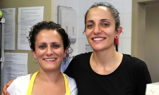 Almond Bar chefs Sharon and Carol Salloum cooked for refugees at SSI Community Kitchen
