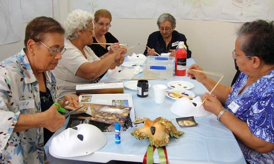 Art therapy workshop for multicultural seniors
