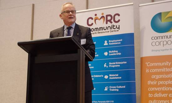 Friendly Nation Initiative chair Tony Shepherd at Syrian refugee forum