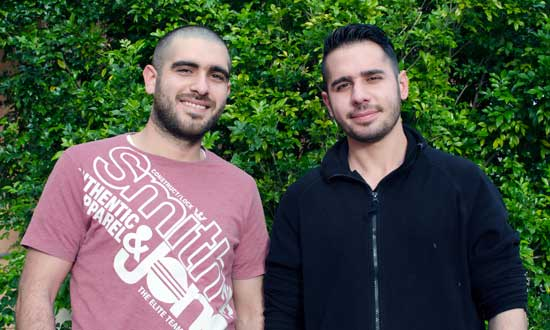 Brothers Sarkis and Garen are looking forward to what the future holds in Australia.