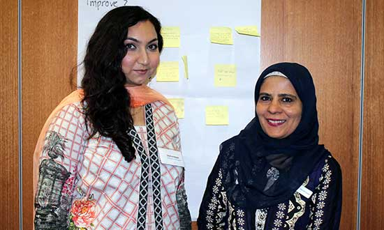 Ability Links NSW Linker Seema Syed and participant Ms Hamayun
