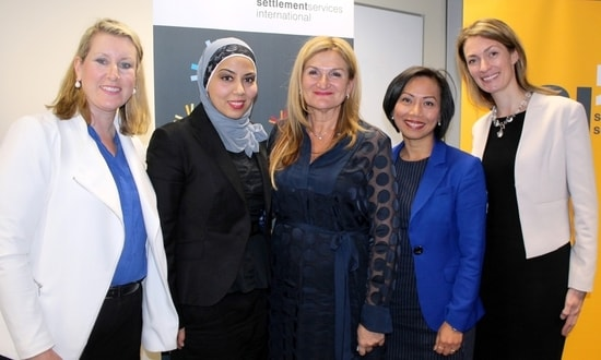 The Cultural Diversity and Leadership forum speakers with SSI CEO