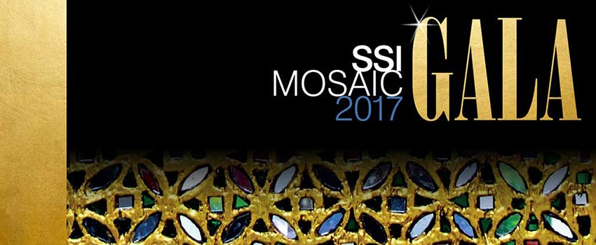 SSI Mosaic Gala event logo and design