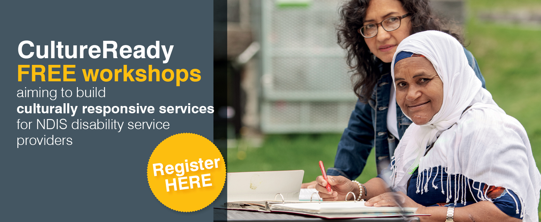 CultureReady FREE workshops aiming to build culturally responsive services for NDIS disability service providers. Register HERE.