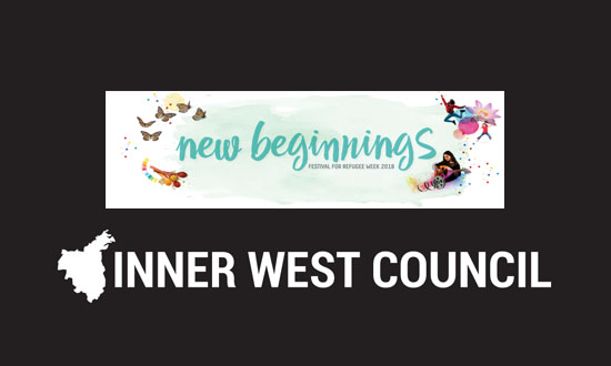 New beginnings Festival 2018 and Inner West Council logo
