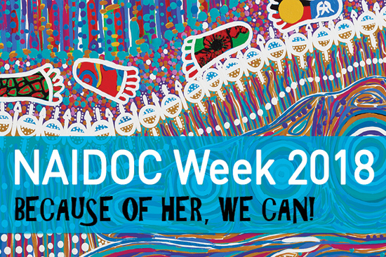 Naidoc Week 2018 Because of her we can dot painitng