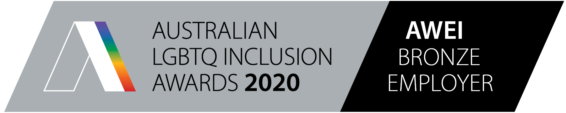 Australian LGBTQ inclusions awards 2020 AWEI Bronze employer badge