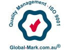 ISO accreditation - Quality Management ISO 9001 Global-Mark.com.au logo;