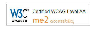 W3C Certified WCAG Level AA me2 Accessibility