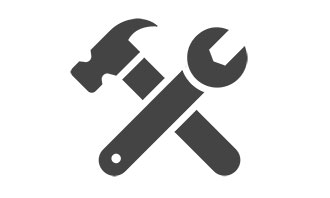 A hammer and screwdriver illustration