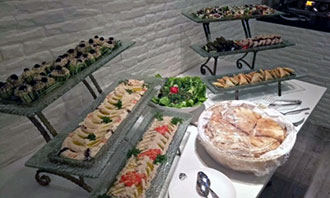 A smorgasbord of food prepared by TEBA Catering.