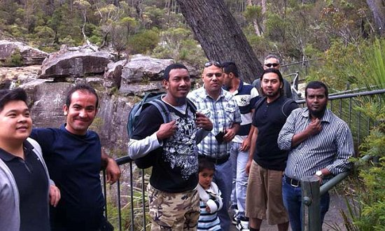 This group of refugee and asylum seeker men were treated to some views of Fitzroy Falls.