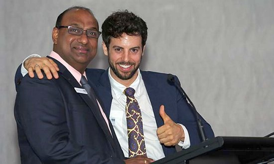 SSI Housing Services team members Ravi Emmanuel and Charles Rich.