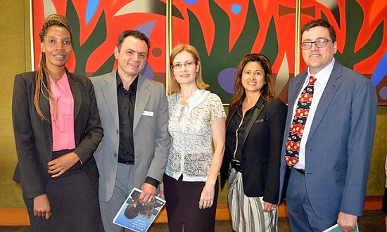 SSI staff with Minister for Family and Community Services Gabrielle Upton (centre).