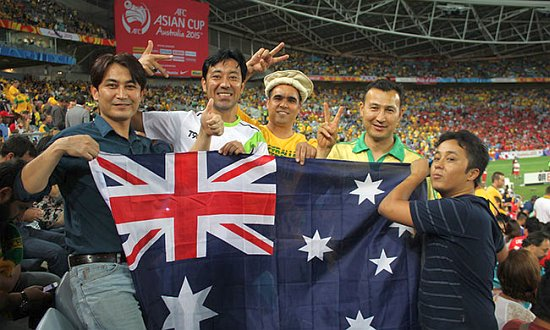 SSI clients supporting the Socceroos at the Asian Cup final.
