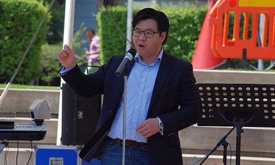 Race Discrimination Commissioner Tim Soutphommasane at Walk Together in Sydney, last year.