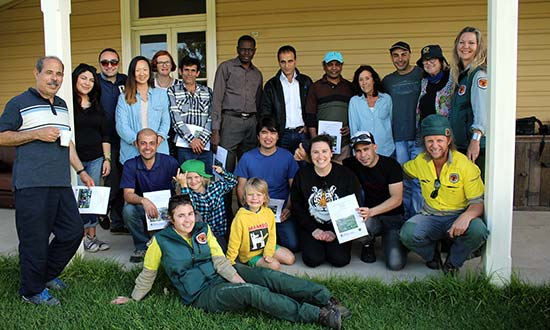Bush regeneration volunteers and NPW staff.
