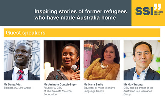 Speakers' Series: Inspiring stories of former refugees