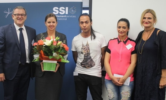 SSI CEO, Metro Assist CEO and refugees