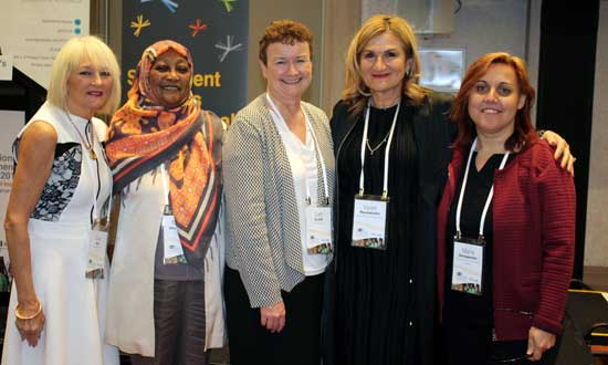 SSI CEO Violet Roumeliotis with a number of delegates who attended the inaugural National Multicultural Women's Conference.