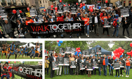 Sydneysiders march for Walk Together 2016