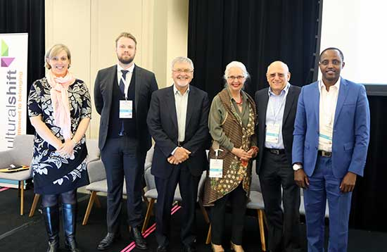 Six speakers at the Cultural Shift Conference 2017 posing for the camera