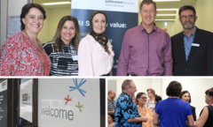 SSI staff and Luke Harsuyker launch refugee resettlement office in Coffs Harbour.