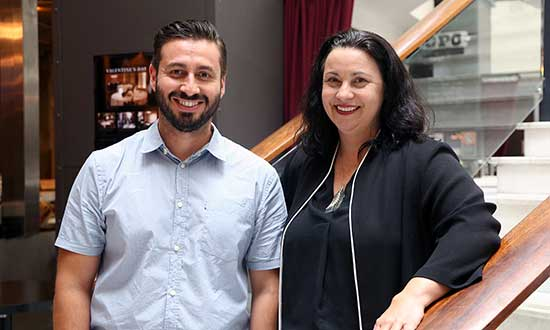 Sandy Haig and Jorge Perez from the University of Wollongong are part of the Ignite resource team.