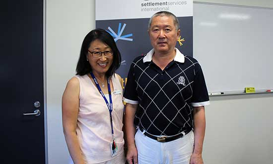 SSI Linker Li Hua Chu and Ability Links participant Ming Zhong.