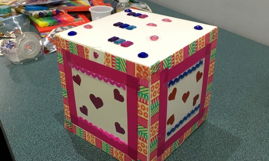 A box made by a member of the Illawarra Girls Group during an exercise on strengths and identity