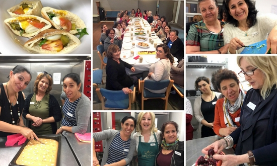 SSI clients help prepare Jewish and Iraqi meals during the Shared Table Project