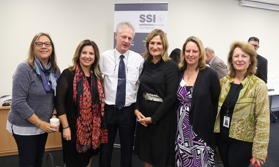 Photo of SSI's CEO Violet Roumeliotis and other key members of the NSP