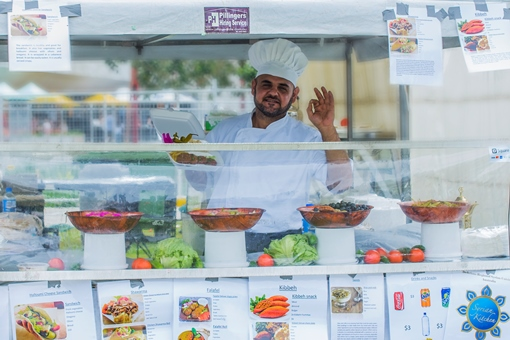 The festival hosts businesses like Syrian Kitchen that are supported by SSI's IgniteAbility program