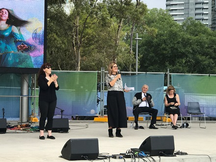 SSI CEO Violet Roumeliotis launches the festival.
