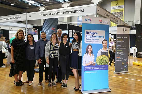 SSI team at the Employment Refugee Expo