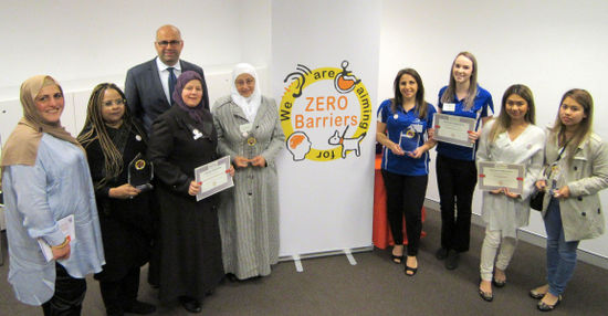 Canterbury Bankstown councillors with some of the Zero Barriers award winners
