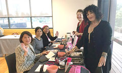 SSI  pamper event ladies getting their nails done