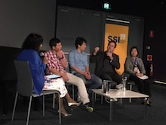 A group of people during a Q&A panel discussion.