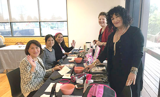 SSI papmer event ladies getting their nails done