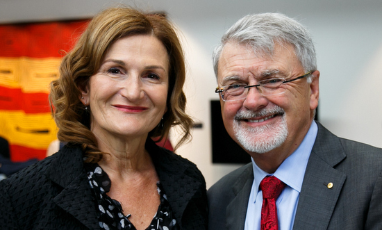 Violet Roumeliotis and Peter Shergold