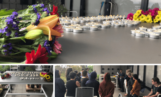 An SSI vigil for victims of the Christchurch terror attack