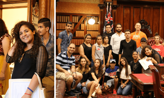Young refugees enjoy a trip to Parliament House
