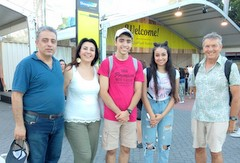 Refugee family and Welcome2Sydney ambassador at Easter Show