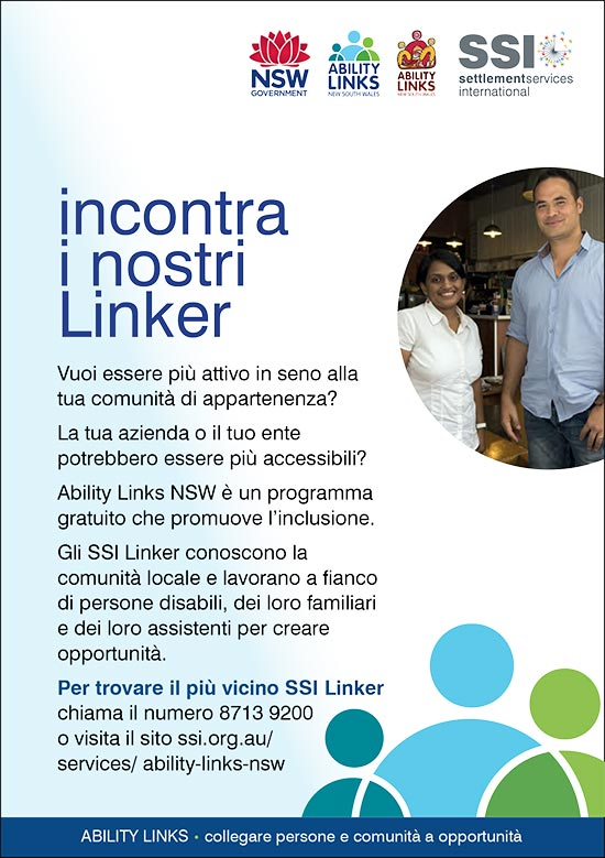 Italian language Ability Links NSW information